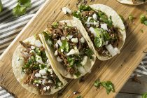 making tacos