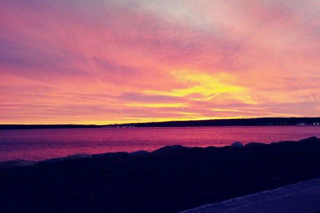 sunset greenwhich bay