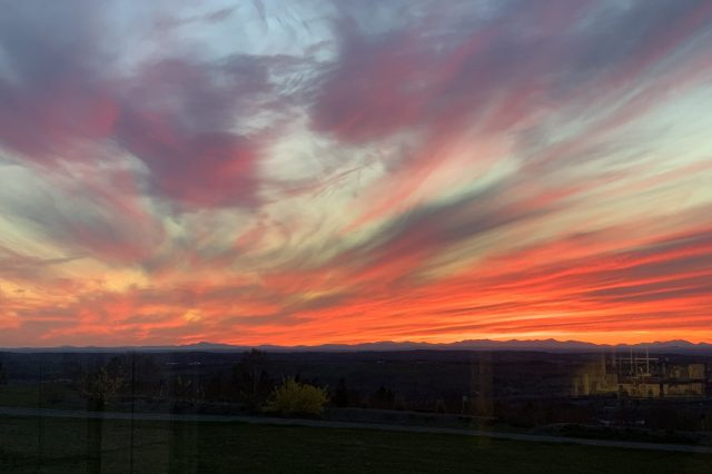 sunset knox maine